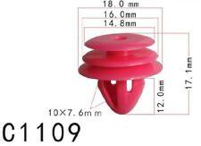20Pcs Fit Hyunda Kia Nylon Trim Panel Rivet Retainer Clip Fastener 18x12x10mm