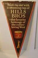"Large 30"" Antique Old Vintage 1930s Hill Bros. Coffee Graphic Advertising Sign"