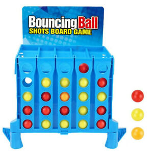 4 Bursts Bouncing Ball Desktop Puzzle Catapult Toys Double Competitive Catapult
