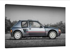 Peugeot 205 T16 - 30x20 Inch Canvas Art - Framed Picture Print