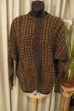 VINTAGE  ~  DELUXE ~ Animal Print/Beads  JUMPER * Size L *