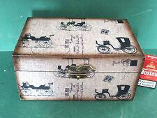 Aufbewahrungsbox Schmuckkasten Kassette Holzkasten Nähzeug Oldtimer Antik Stil