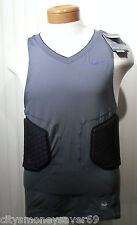 NWT Nike Pro Combat Vis Deflex Mens Basketball Shirt Top 2XL Charcoal/Purple $80