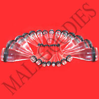 """V033 Acrylic Clear Stretchers Tapers Expander Ear Plugs 14G to 1"""" Kit 3 Pairs"""