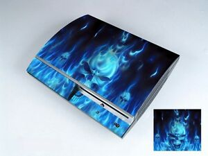 Blue Fire 256 Vinly Skin Sticker Cover Protector for Sony PS3 PlayStation 3