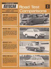 Autocar 4 In 1 Road Test Comparisons 1970 Fiat 128 Mazda 1200 Renault 12 Simca