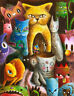 Cat Overload Home Decor Canvas Print A4 Size (210 x 297mm)