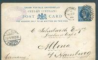 BRITISH CEYLON to GERMANY 1896 VF