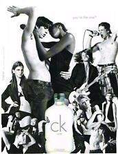 PUBLICITE ADVERTISING  2005   CALVIN   KLEIN  YOU'RE THE ONE  parfums