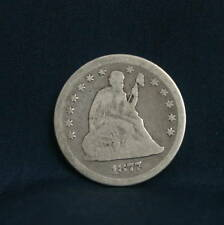 1877 Seated Liberty Quarter 25 cent Nice Us Silver coin