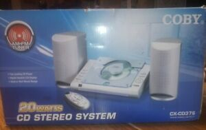 Coby 20 Watt CD AM/FM Tuner Stereo System CX-CD376-New Open Box