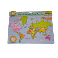 NEW 48 Pcs JIGSAW WORLD MAP Children Puzzle PRESCHOOL Educational Geography Toy