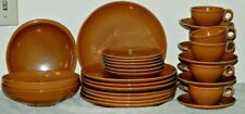 IROQUOIS CASUAL APRICOT BY RUSSEL WRIGHT 32 PC DINNERWARE SET PLATES CUP GUMBO B