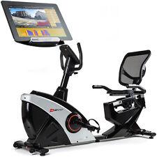 Liegeheimtrainer Helix von Hop-Sport Sitz-Heimtrainer Bluetooth +Unterlegmatte