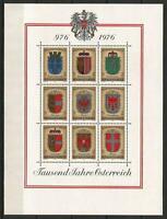 Austria 1976 MNH Millenary Austria Coat of Arms Styria Vienna Salzburg Carinthia