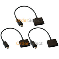 3 Charger Adapter for Apple iPhone 3 3G 3GS 4 4S to Micro USB Android Cell Phone