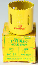 "Hole Saw, Starrett, Safe Flex, 44mm  1 3/4"", Made in Scotland"