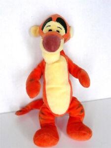 "Disney Store Collection 10"" Velvet Plush Tigger Plush Winnie Pooh Toy"
