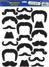 MOUSTACHE wall stickers 21 decals room decor men hair handlebar black self-stick