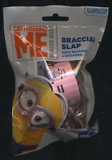 SLAP bracciale + stickers CATTIVISSIMO ME MINION rosa silicone - sealed