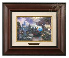 Thomas Kinkade Cinderella Wishes Upon a Dream 5 x 7 Framed Brushwork Burl Frame
