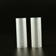 White Plastic Battery Fixed Tube Case For 18650 Battery 62 x 20mm U_BE