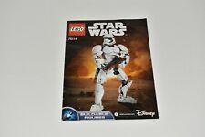 Lego Star Wars First Order Stormtrooper 75114 Instruction Manual Booklet