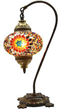 GRAND 2016 Turque Marocain Mosaïque Table Chevet Tiffany Cygne Lampe Lumière,