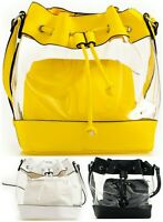 Women PVC Clear Pearl Jelly Bag Transparent Tote Ladies Handbag Crossbody Bag UK