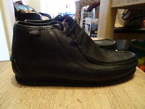 BNWOB Mens Henri Lloyd Black Leather Wake Boots - Size UK 7 - FREE P&P