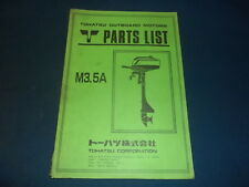 NISSAN TOHATSU M3.5A OUTBOARD MOTOR ENGINE PARTS MANUAL BOOK