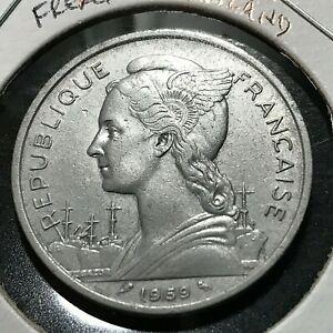 1959 FRENCH SOMALIA FRANC BRILLIANT UNCIRCULATED COIN