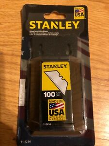 Stanley 100 Pack Heavy Duty Utility Knife Blades w/Dispenser NEW PACKAGE 11-921A