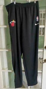 Nike NBA Miami Heat Training Basketball Dri Fit Pants AV1421-010 Size 4XL-TALL