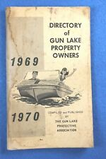 1969 GUN LAKE PROPERTY OWNERS PROTECTIVE ASSOC.DIRECTORY w/ ADVERTISEMENTS