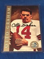 Otto Graham 1998 Hall Of Fame Platinum Signature Series Autograph Card HOF /2500