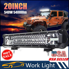 "540W LED Work Light Bar 20"" Flood Spot Combo Offroad Driving Fog Lamp Car Truck"