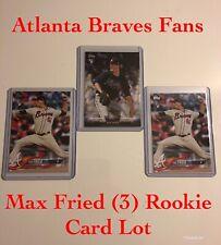 Atlanta Braves Max Fried (3) Rookie Card Lot