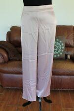 St John Womens Orchid Lilac Satin Wide Leg Pants Trousers sz 12 JT01
