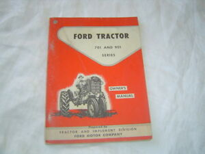 Ford 701 901 series tractor operator's manual