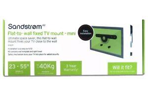 SANDSTROM SFSEZ17 Flat to Wall 23 - 55 inches Fixed TV Bracket - Max 40kg (VESA)