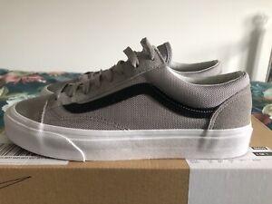 Vans Old Skool Trainers Size 8 Grey Black Rare
