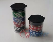 5 x Clear Plastic Poker Chip Tubes for Cash Games Players, 10, 20 or 40 Chips...