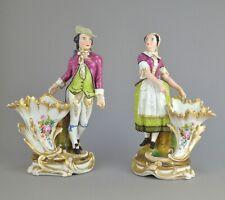 Paire de figurines en porcelaine 19ème dans le goûte de Jacob Petit