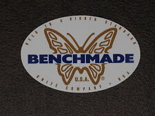 Benchmade Knives Knife Oval Butterfly Logo Vinyl Sticker Decal NEW