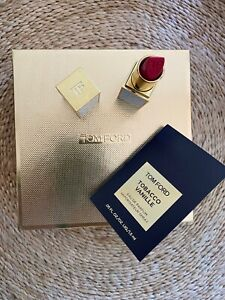 TOM FORD Lip Color Sheer FULL SIZE .1 OZ. #07 Paradiso Box NEW + Tobacco Vanille