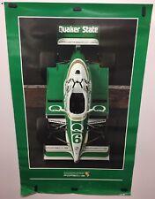 Original vintage 1987 Porsche Indy Race Car poster Quaker State #6