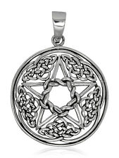 925 solid Sterling silver New design Pentagram with Celtic knots pendant