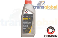 DOT 4 Synthetic Brake Clutch Fluid 1 Litre Ideal for ABS Systems COMMA