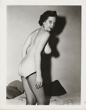 Vint Original Nude Busty Marge Mellor Posing 3  Glossy Photo